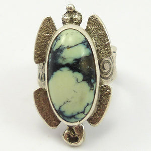 New Lander Turquoise Turtle Ring