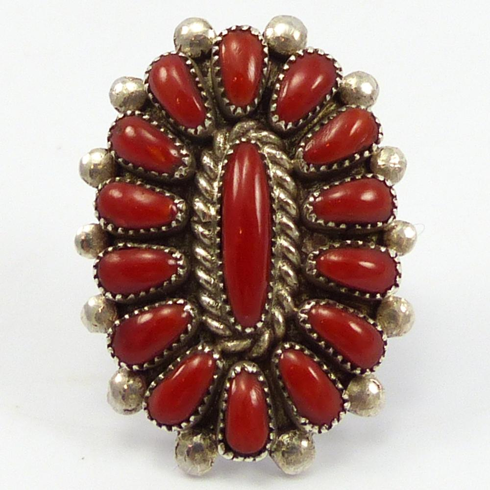 Coral Cluster Ring