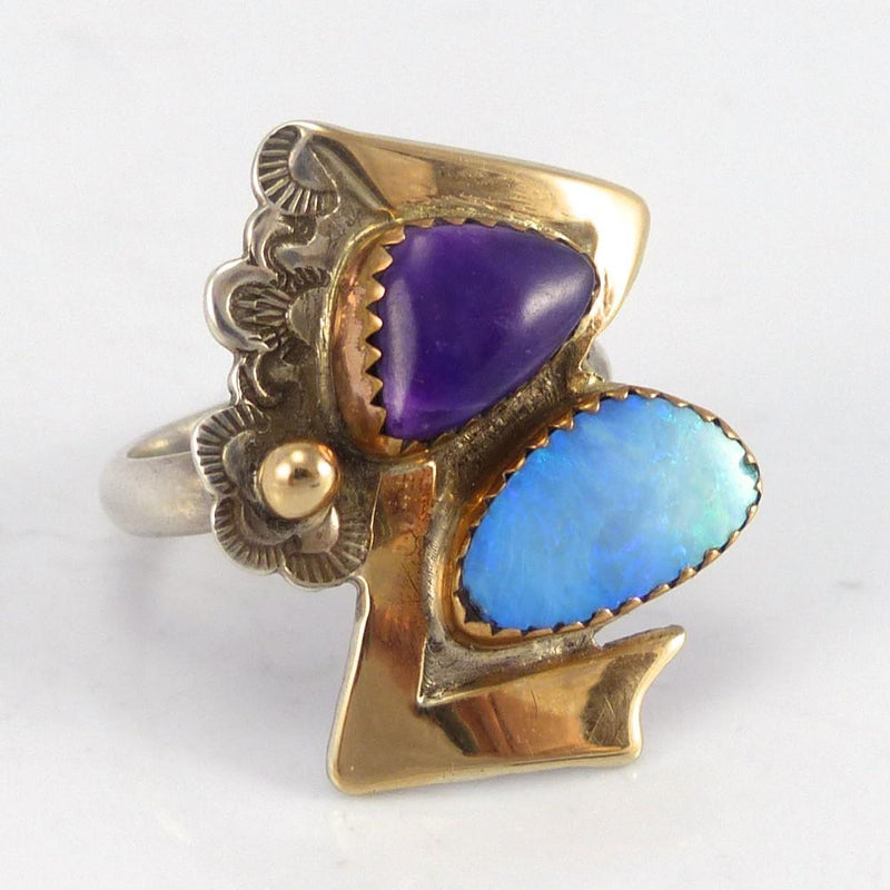 Sugilite and Opal Ring - Jewelry - Lauren Renee - 2