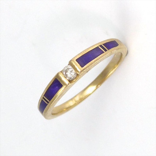 Diamond and Sugilite Ring