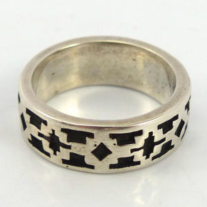 Stamped Silver Ring, Melanie and Michael Lente, Jewelry, Garland's Indian Jewelry