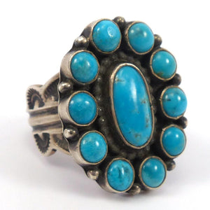 Blue Gem Turquoise Ring, Leon Martinez, Jewelry, Garland's Indian Jewelry
