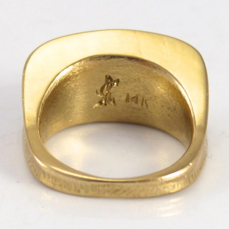Hammered Gold Ring - Jewelry - Duane Maktima - 5