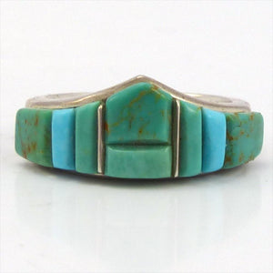 Turquoise Inlay Ring, Tim Charley, Jewelry, Garland's Indian Jewelry