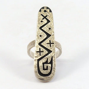 Silver Overlay Ring, Ruben Saufkie, Jewelry, Garland's Indian Jewelry