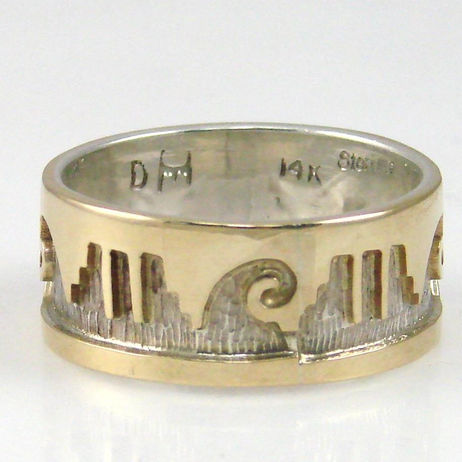 Gold on Silver Overlay Ring - Jewelry - Dina Huntinghorse - 1