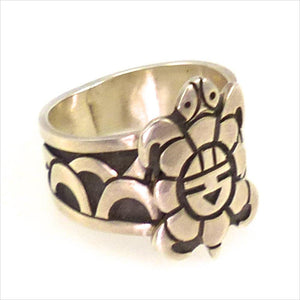 Hopi Overlay Ring, Fernando Puhuhefvaya, Jewelry, Garland's Indian Jewelry