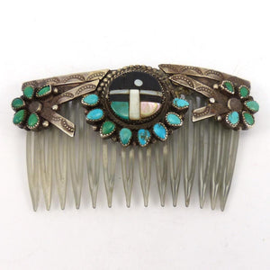 1950-60s Zuni Hair Comb, Vintage Collection, Jewelry, Garland's Indian Jewelry