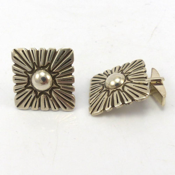 Stamped Silver Cuff Links, Thomas Jim, Jewelry, Garland's Indian Jewelry