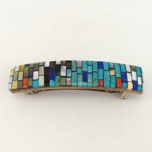 Inlay Barrette, Charlene Reano, Jewelry, Garland's Indian Jewelry