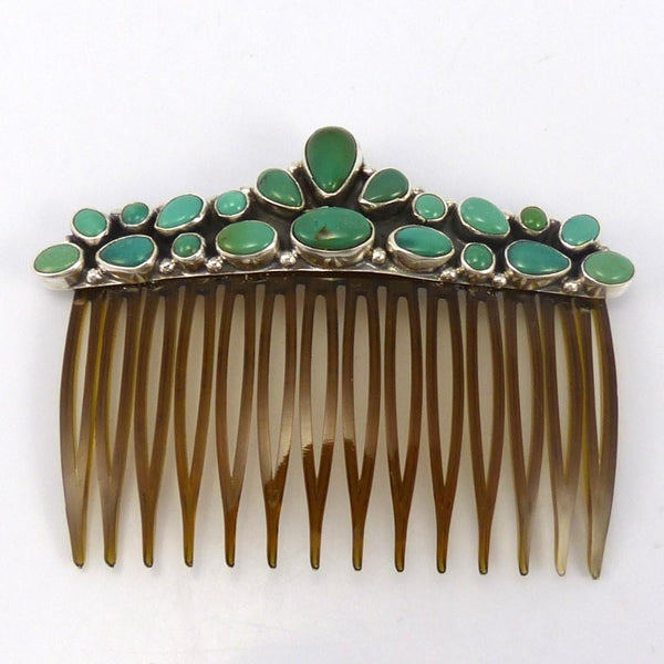 Turquoise Hair Comb, Clarissa and Vernon Hale, Jewelry, Garland's Indian Jewelry