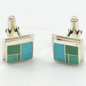 Channel Inlay Cuff Links