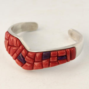 Coral and Sugilite Cuff - Jewelry - Jasper John - 1