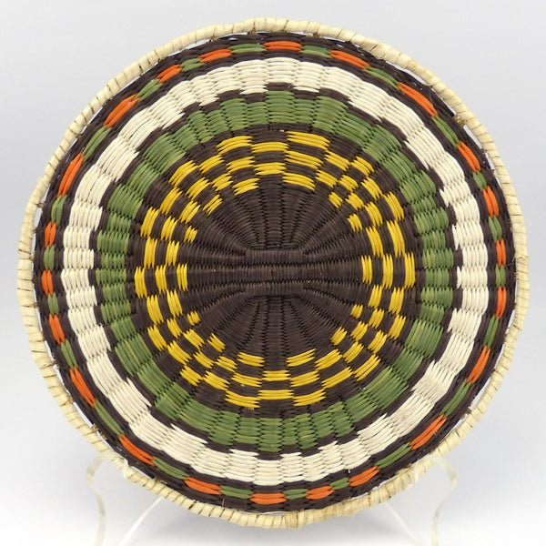 Hopi Sunflower Plaque, Dorleen Gashweseoma, Baskets, Garland's Indian Jewelry