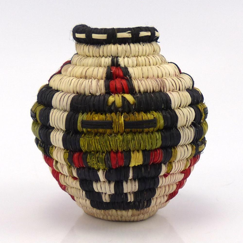 Miniature Hopi Olla Basket, Petra Lamson, Baskets, Garland's Indian Jewelry