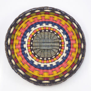 Rainbow Wicker Plaque