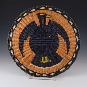 1990s Hopi Wicker Plaque