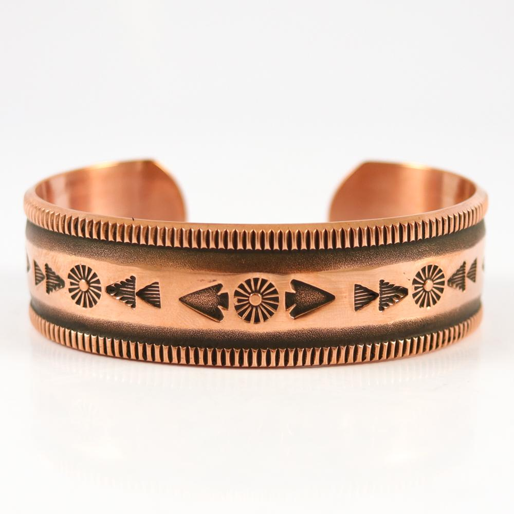 Stamped Copper Cuff