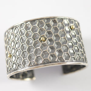 Honeycomb Silver and Gold Cuff