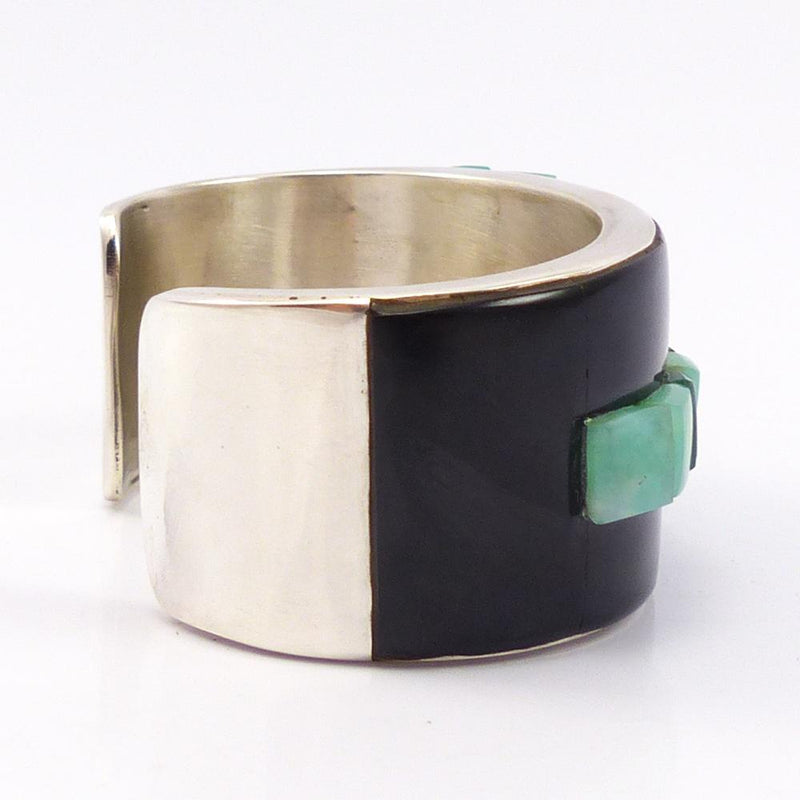 Black Jade and Chrysoprase Cuff