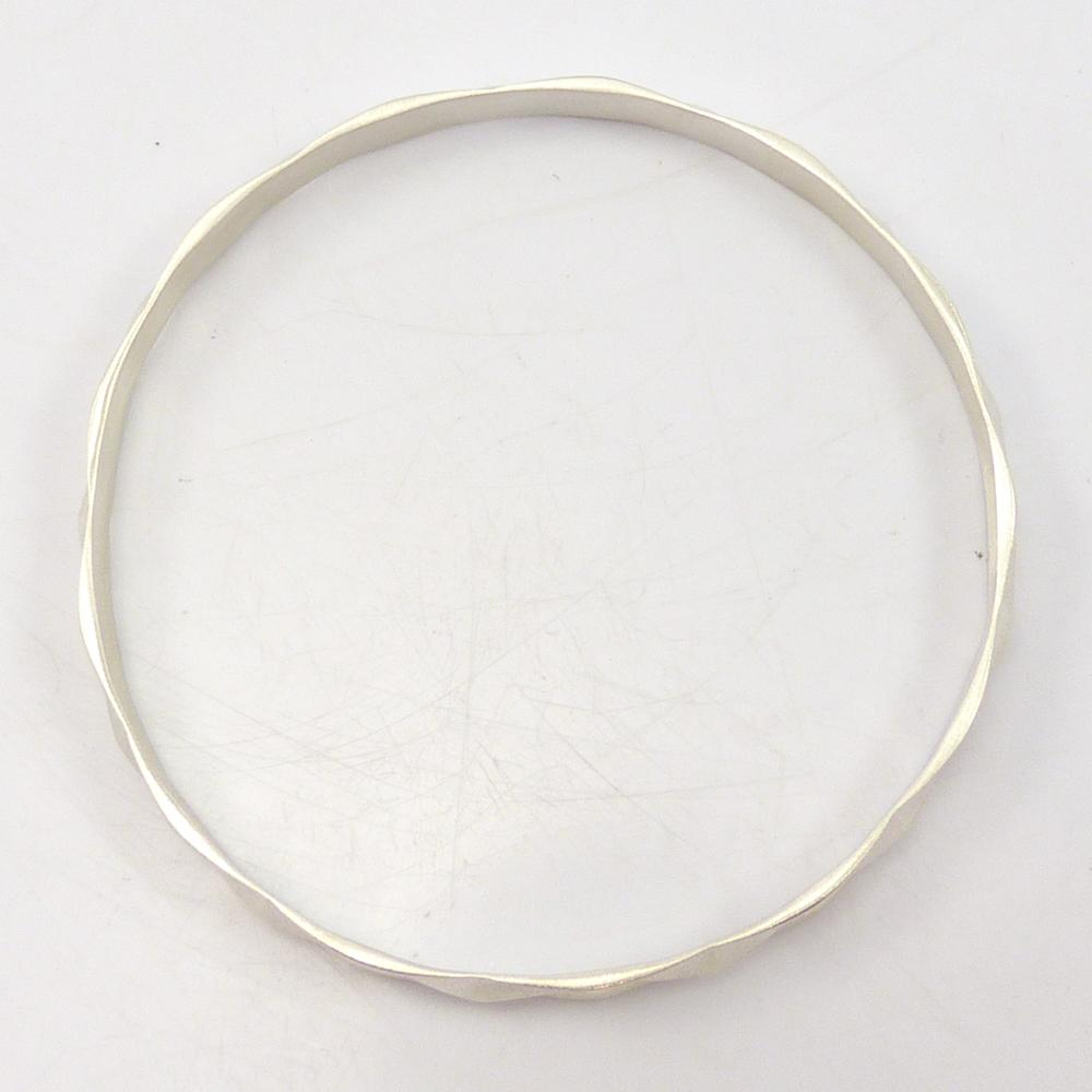 Diamond Peak Silver Bangle