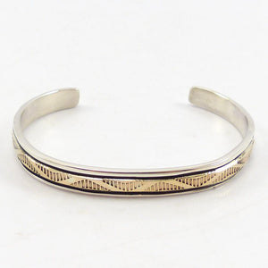 Gold on Silver Stamped Cuff