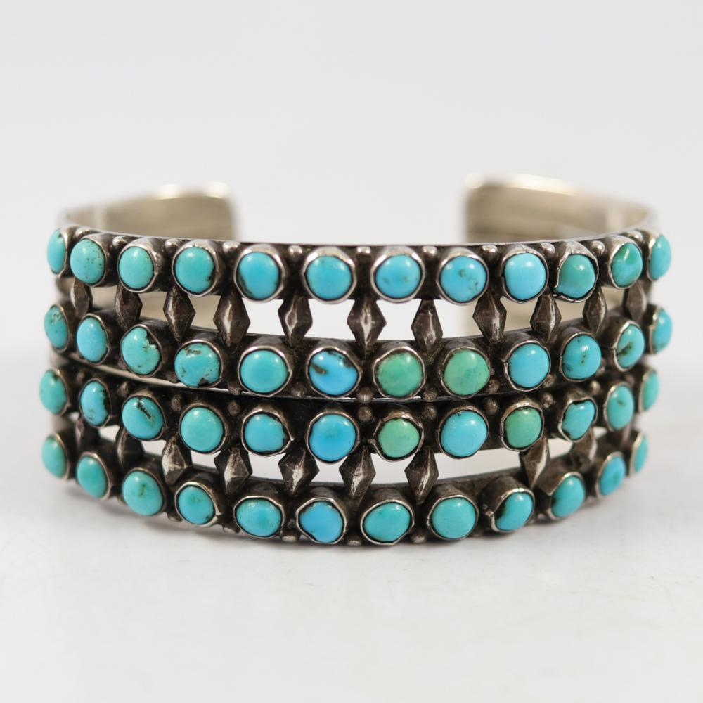 1940s Turquoise Row Cuff