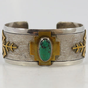 1970s Gold on Silver Cuff