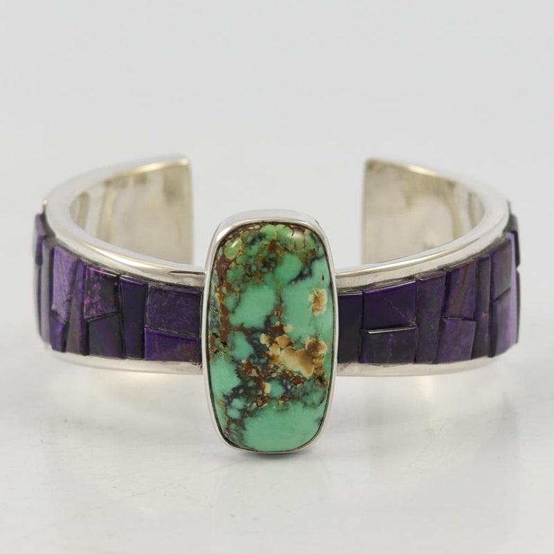 Turquoise and Sugilite Cuff