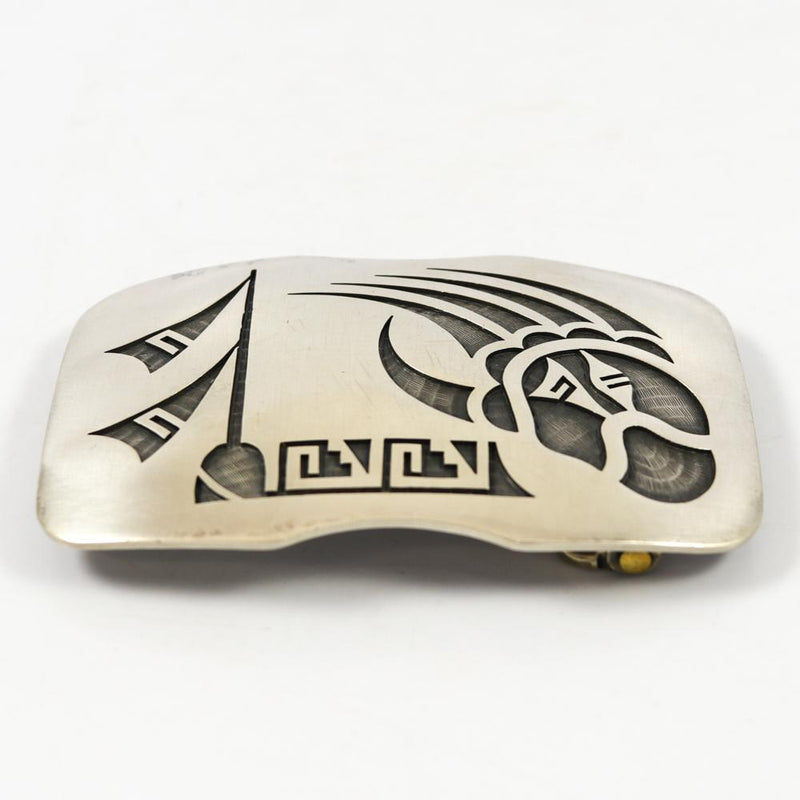 1980s Silver Overlay Buckle