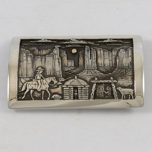 Navajo Storyteller Buckle