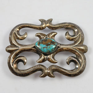 1970s Turquoise Belt Buckle