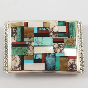 Multi Stone Inlay Buckle