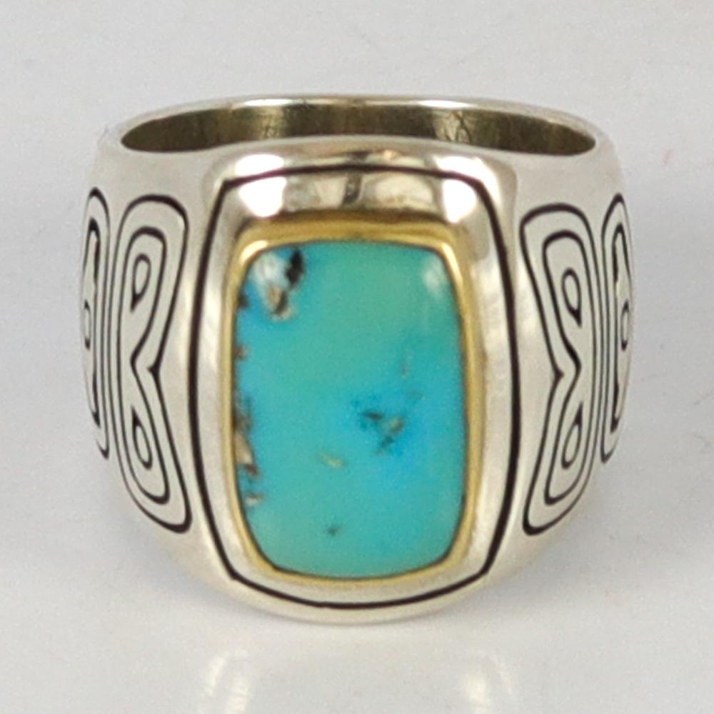 Turquoise Horse Ring