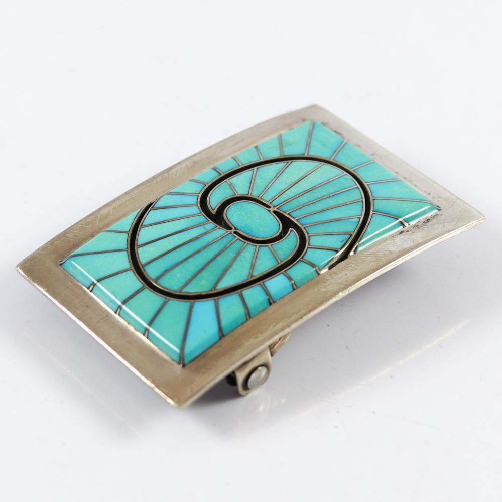 Sleeping Beauty Turquoise Belt Buckle