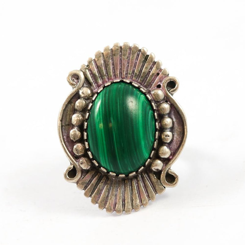 1970s Malachite Ring