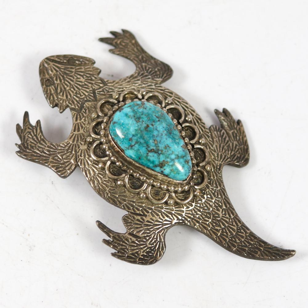 Horned Lizard Pin and Pendant