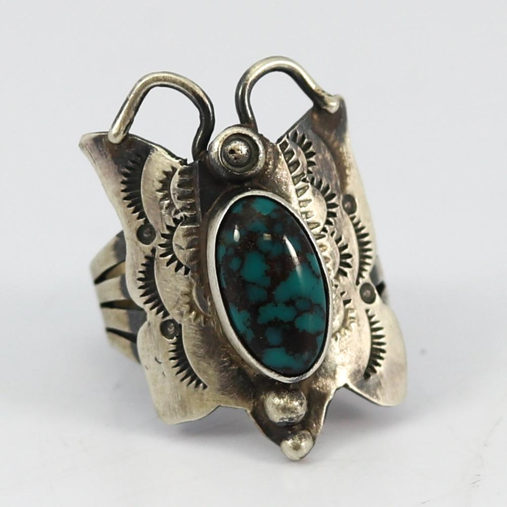 1980s Turquoise Butterfly Ring