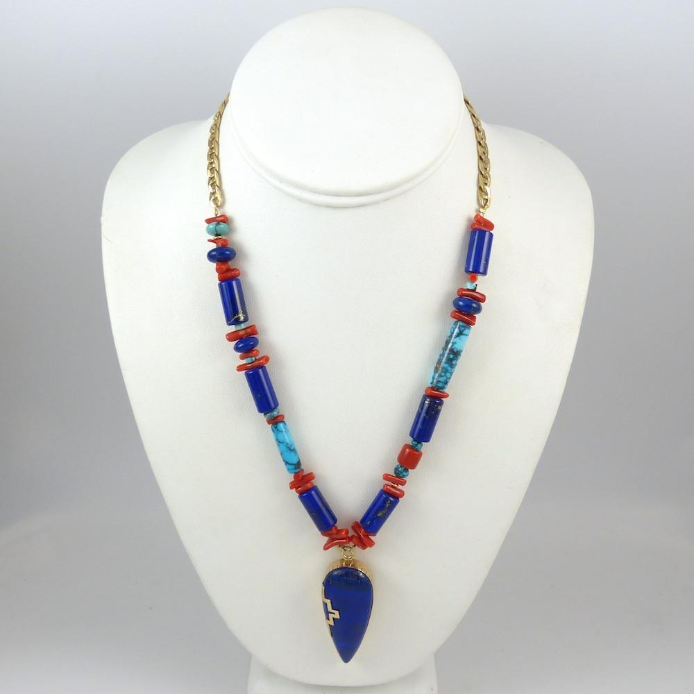 Gold and Lapis Necklace - Jewelry - Melanie and Michael Lente - 1