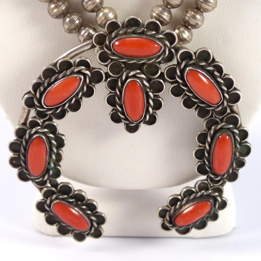 1970s Coral Squash Blossom - Jewelry - Vintage Collection - 2