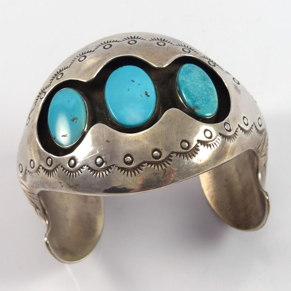 1970s Turquoise Shadowbox Cuff - Jewelry - Vintage Collection - 1