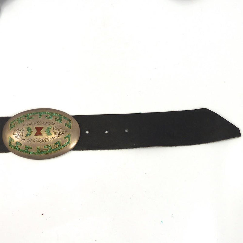 Chip Inlay Concha Belt, Joe Corbet, Jewelry, Garland's Indian Jewelry