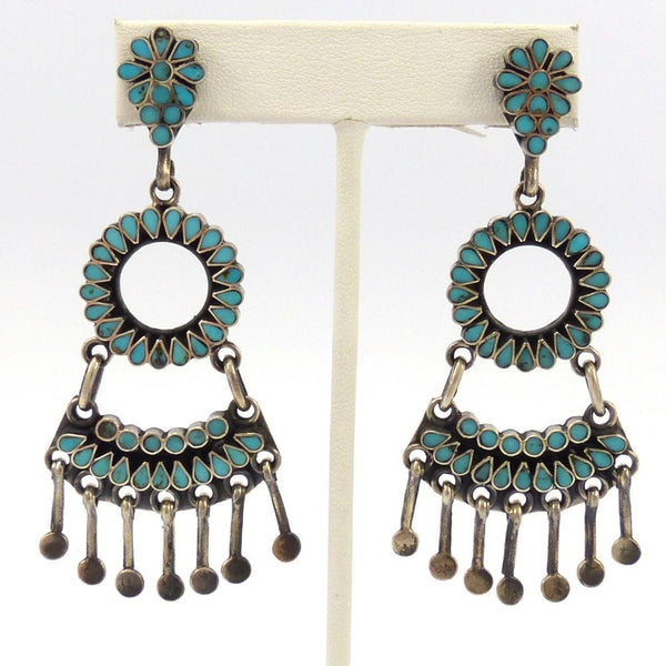 Turquoise Chandelier Earrings, Vintage Collection, Jewelry, Garland's Indian Jewelry