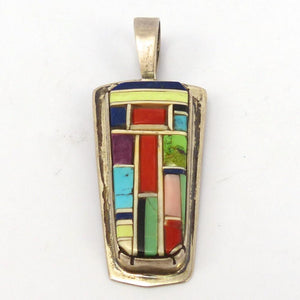 Colorful Inlay Pendant, Don Staats, Jewelry, Garland's Indian Jewelry