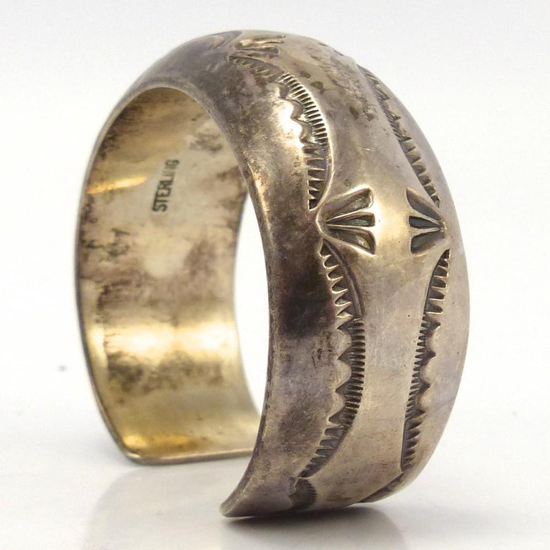 Stamped Silver Cuff, Orville Tsinnie, Jewelry, Garland's Indian Jewelry