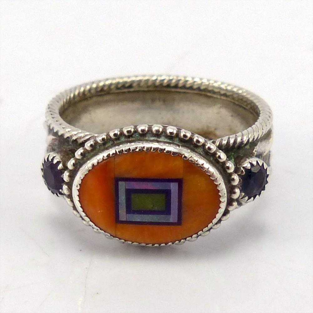 Inlay Ring, Valerie and Benny Aldrich, Jewelry, Garland's Indian Jewelry