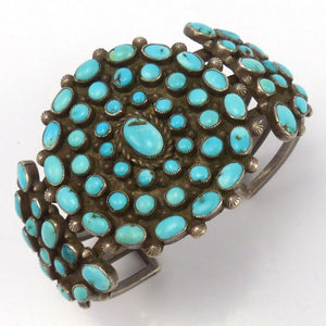 1940s Turquoise Cuff, Vintage Collection, Jewelry, Garland's Indian Jewelry