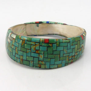 Multi-Stone Inlay Bangle Bracelet, Angie Reano, Jewelry, Garland's Indian Jewelry