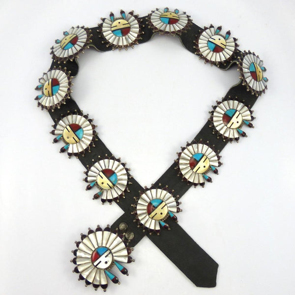 1970s Sunface Concha Belt, Vintage Collection, Jewelry, Garland's Indian Jewelry