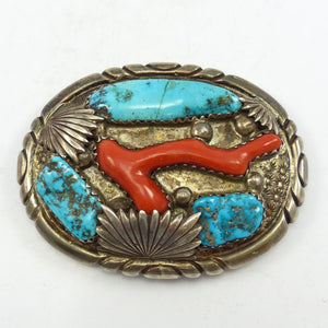 Turquoise and Coral Buckle